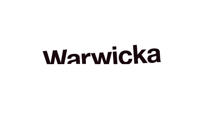 Warwicka - Identity - Logotype on white