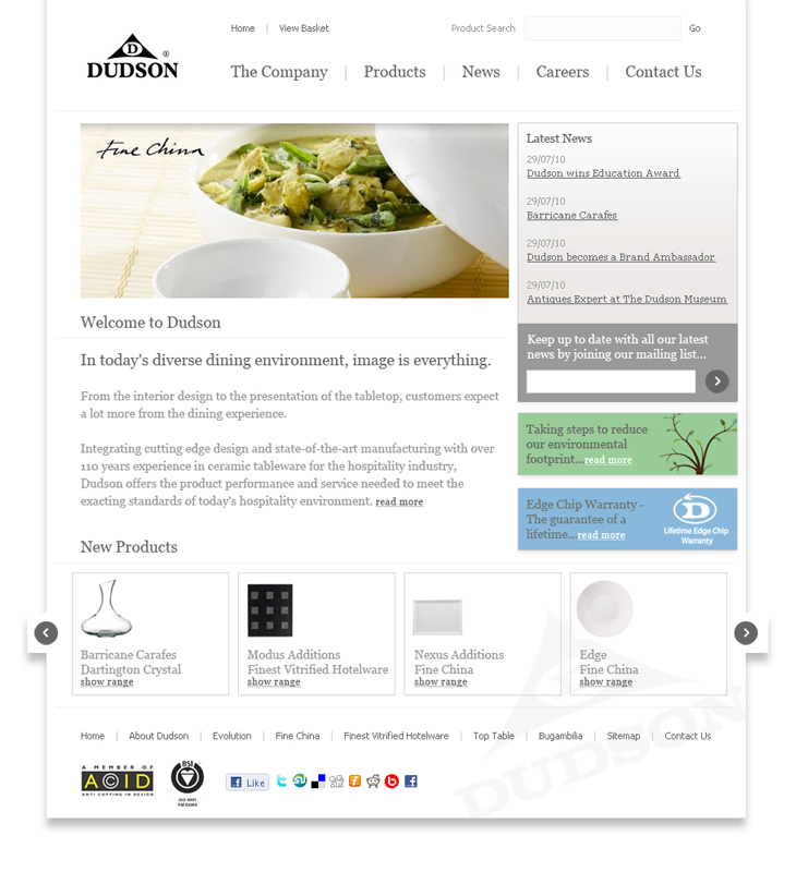 Dudson - Website - Homepage