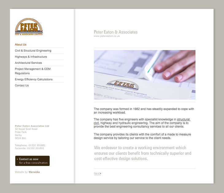 Peter Eaton & Associates - Website - Homepage
