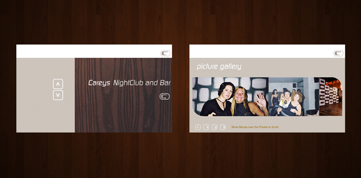 Careys Nightclub and Bar - Website - 'First Floor' and 'Picture Gallery'
