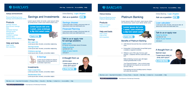 Barclays - Website - Work - Warwicka Design & Art Direction
