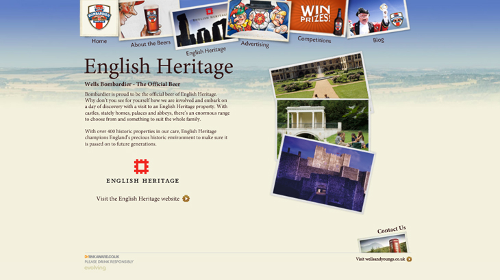 Bombardier - Website - English Heritage
