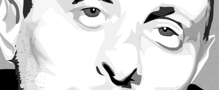 Shaun Ryder - Illustration - Cropped detail