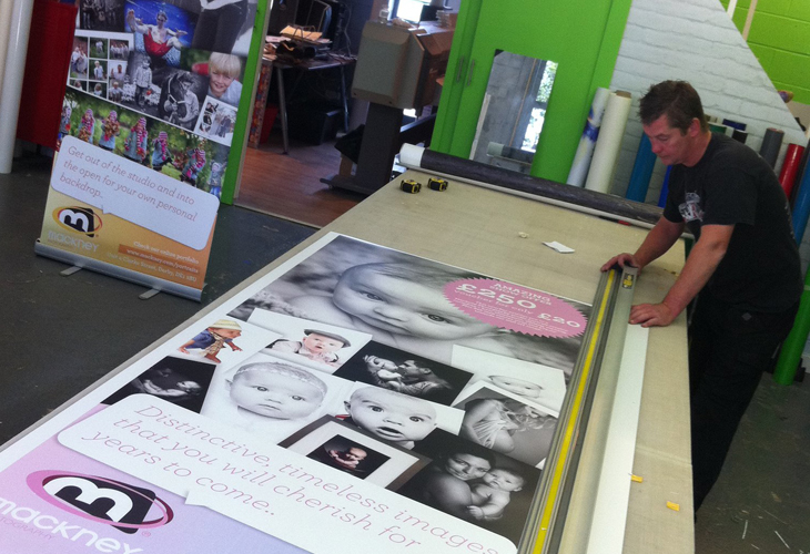 Mackney Photography - panels being cut out at the printers
