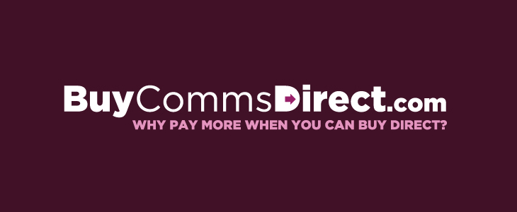Buy Comms Direct - Identity - Logo on purple