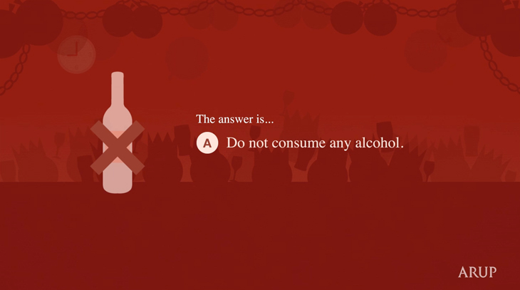 Arup - Health & Safety Video - The Christmas Party - The answer