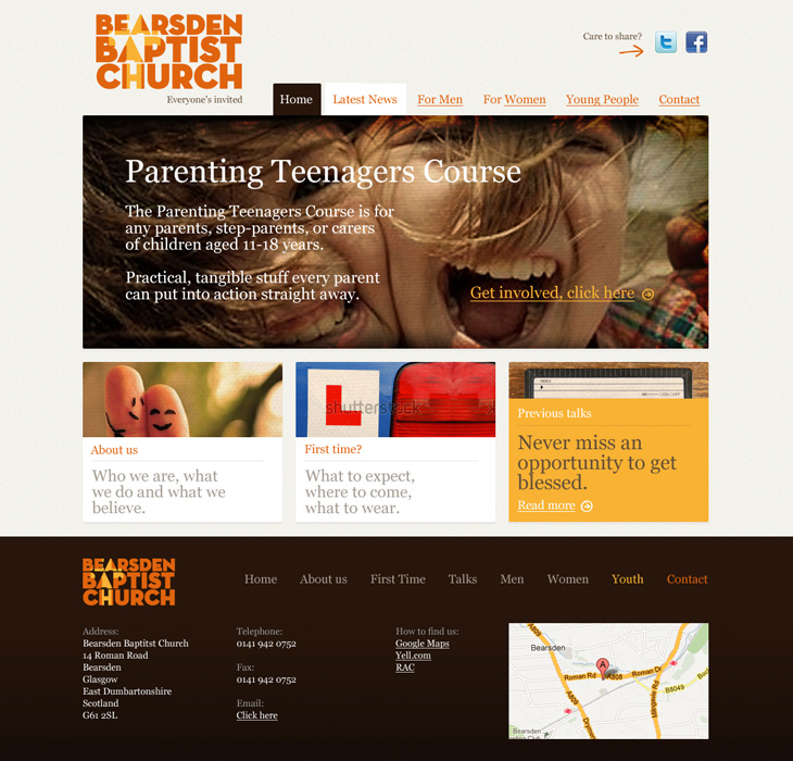 Bearsden Baptist Church - Website Homeapge