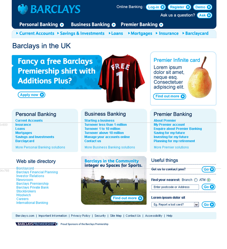 Barclays - Website - Homepage