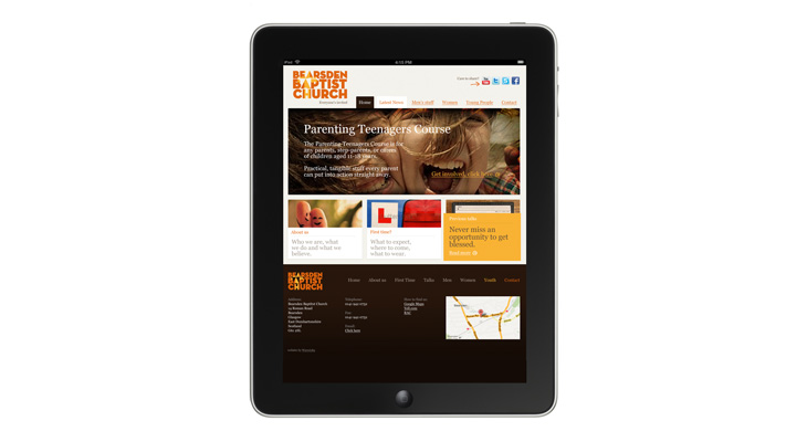 Bearsden Baptist Church - Website - iPad view