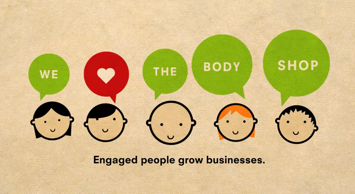 The Body Shop - Engaged Bob - Engaged people grow business