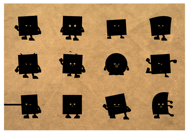 Brick - Character Illustration - Expressions and movements