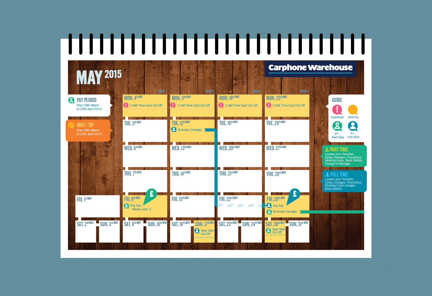 Carphone Warehouse - Calendar - Layout