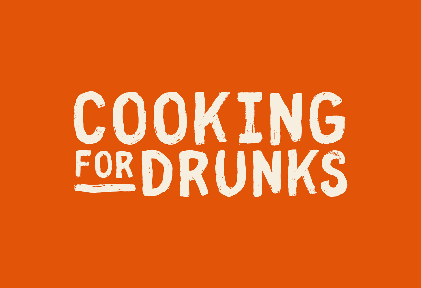 Cooking for Drunks - Logotype