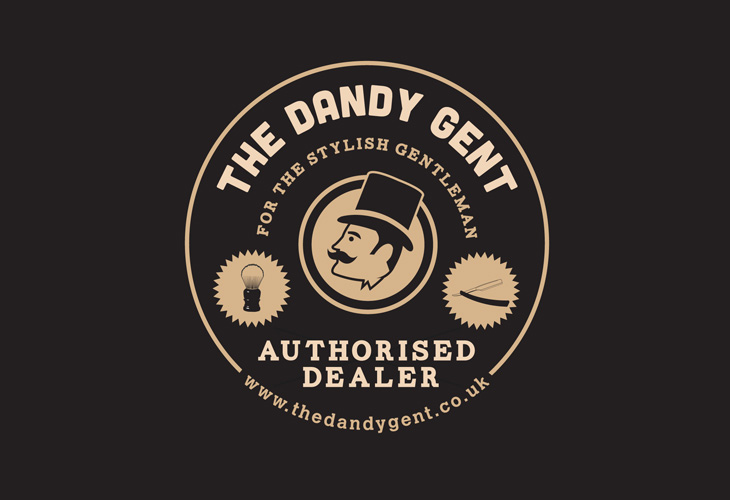 The Dandy Gent - POS - 'Authorised Dealer' window sticker