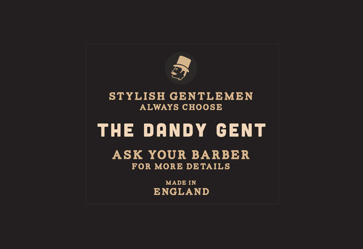 The Dandy Gent - POS - 'Ask your barber' window sticker