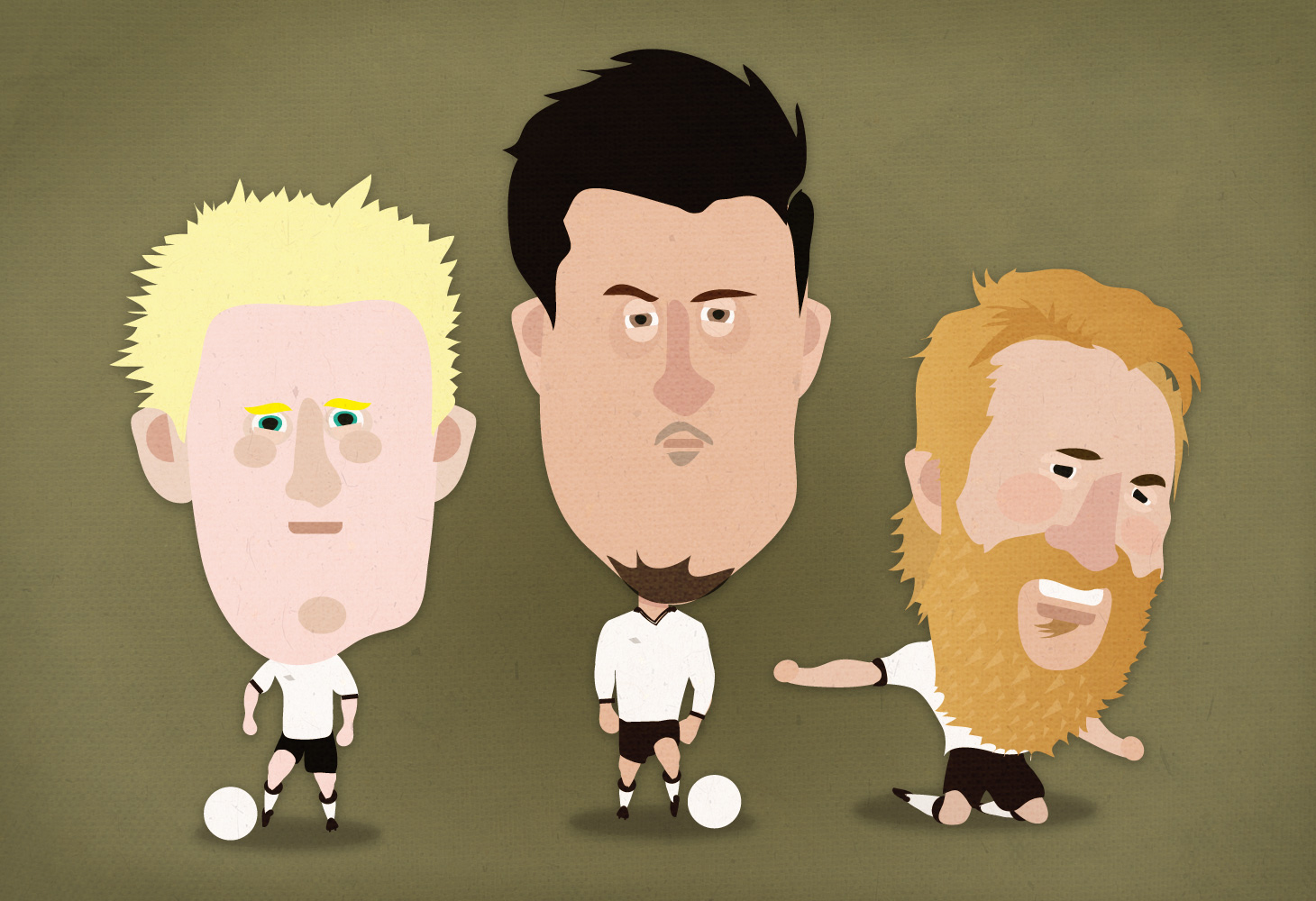 Derby County - Illustrations - Will Hughes, George Thorne & Johnny Russell