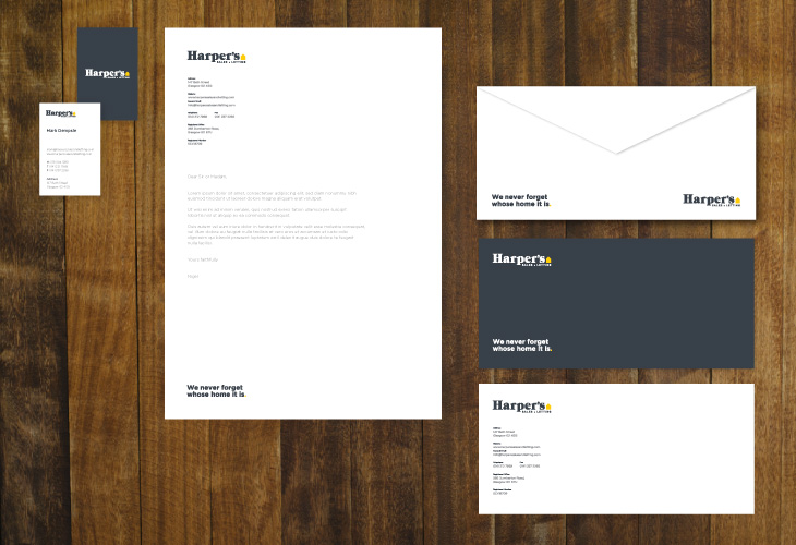 Harpers - Identity - Stationery