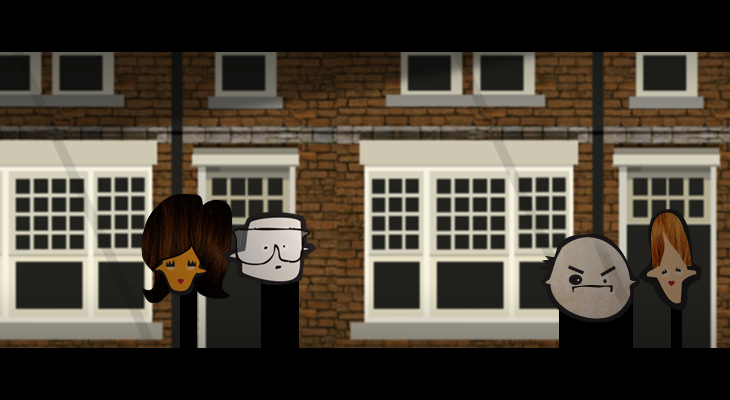 HotRocks - 'Robot' Music Video - Character Illustrations - En situ