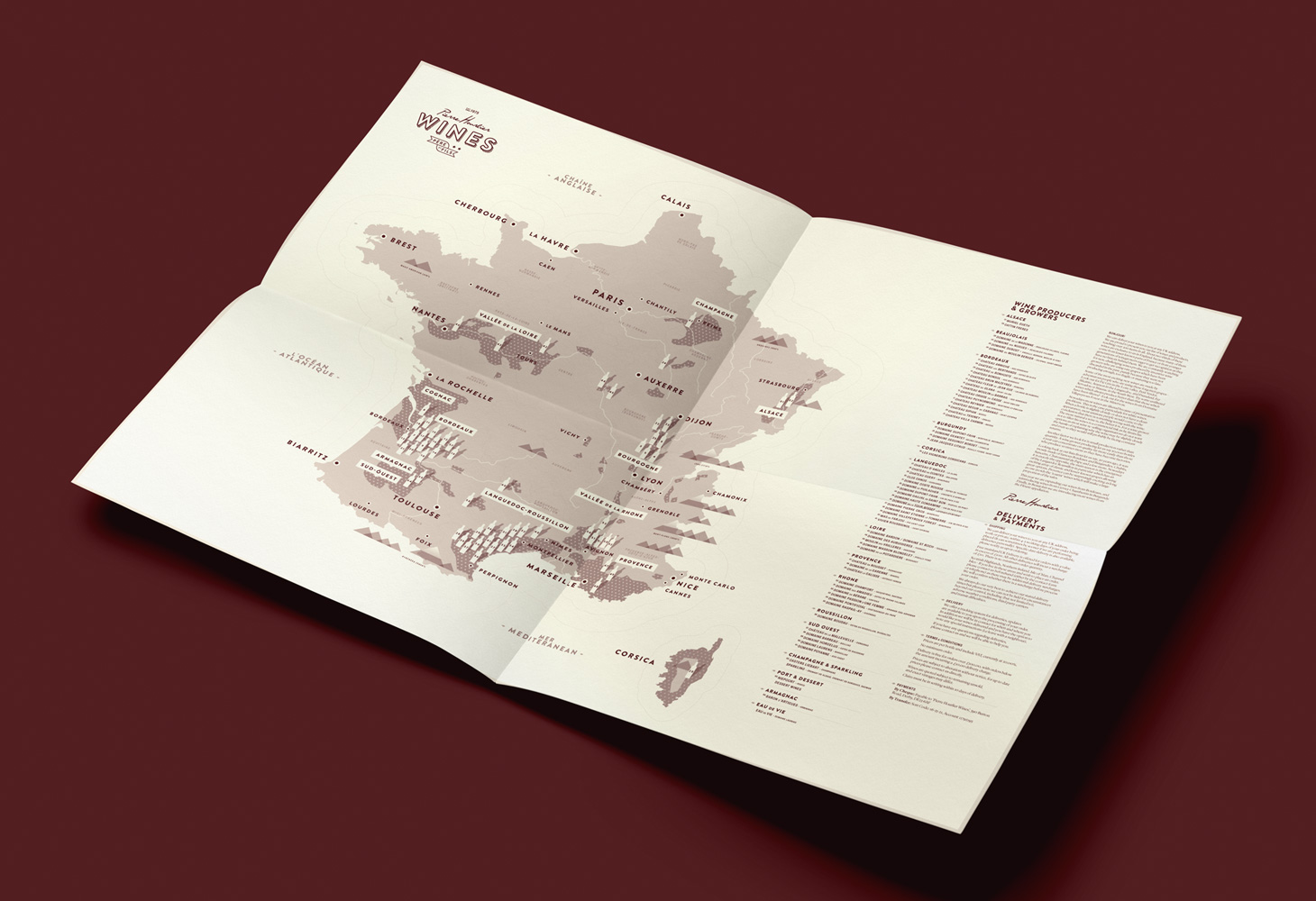 Hourlier Wines - Cartography - Overview Map