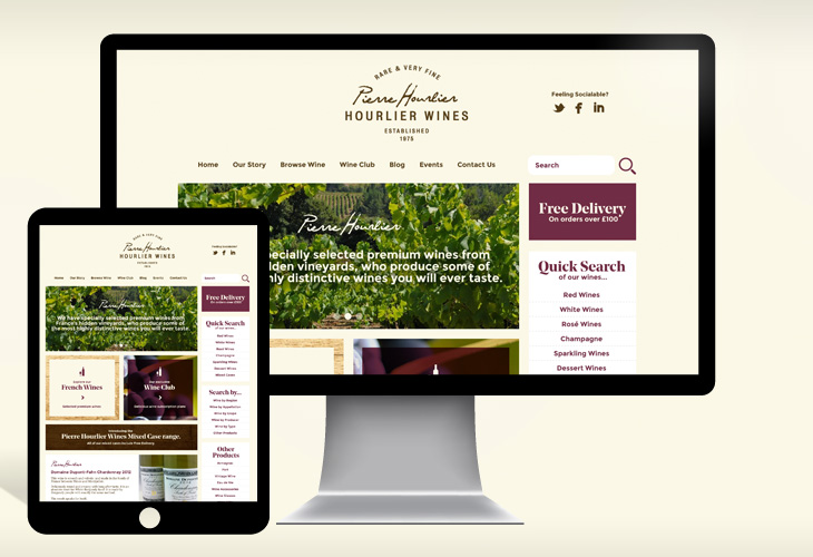 Hourlier Wines - Website