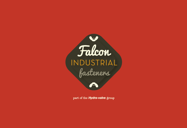 Original logomark produced for Falcon Industrial Fasteners by Andrew Warwick / Warwicka