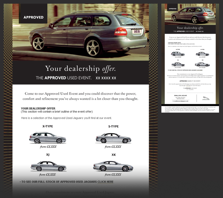 Jaguar - Approved Used Vehicle Event - Email