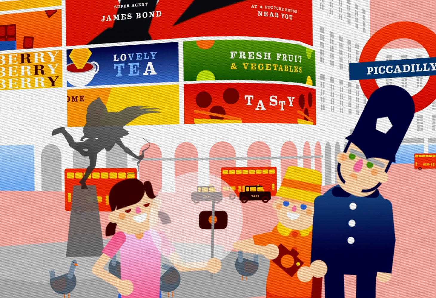 LDN - Character Illustrations - Piccadilly