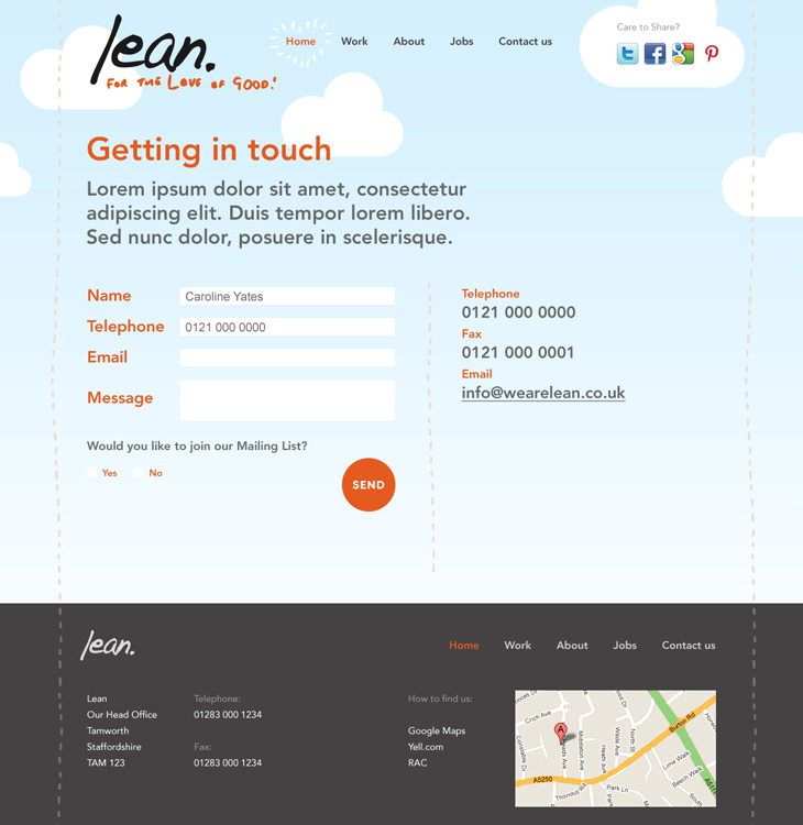 Lean - Website - Contact