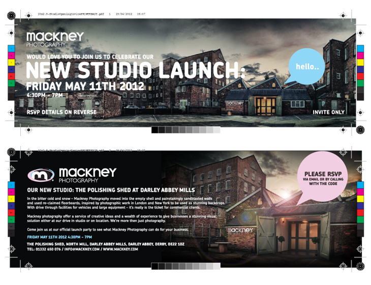 Mackney Photography - Studio Opening Invite - PDF