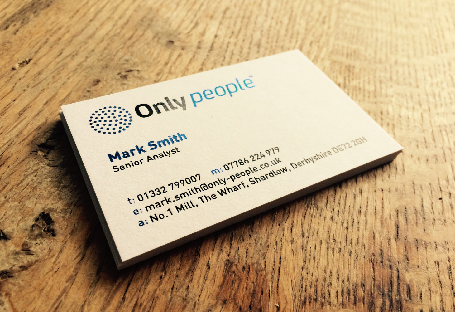 Foil Block Business Cards - Front