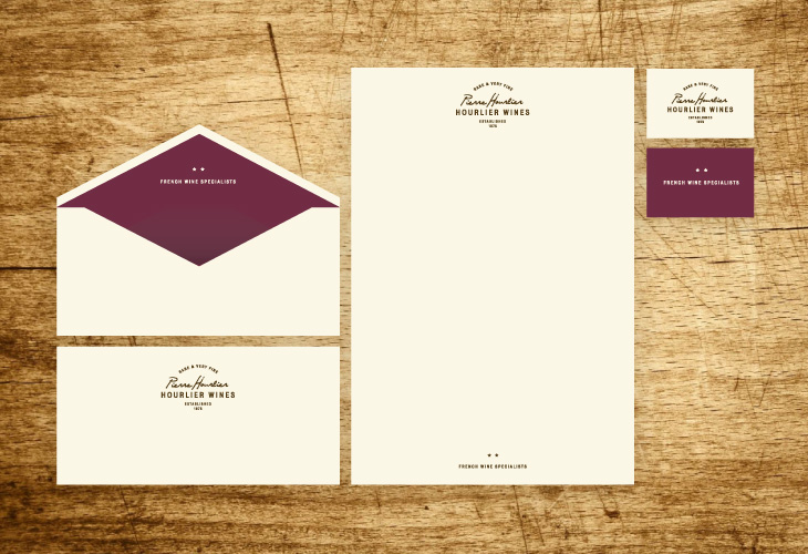 Pierre Hourlier Wines - Identity - Stationery