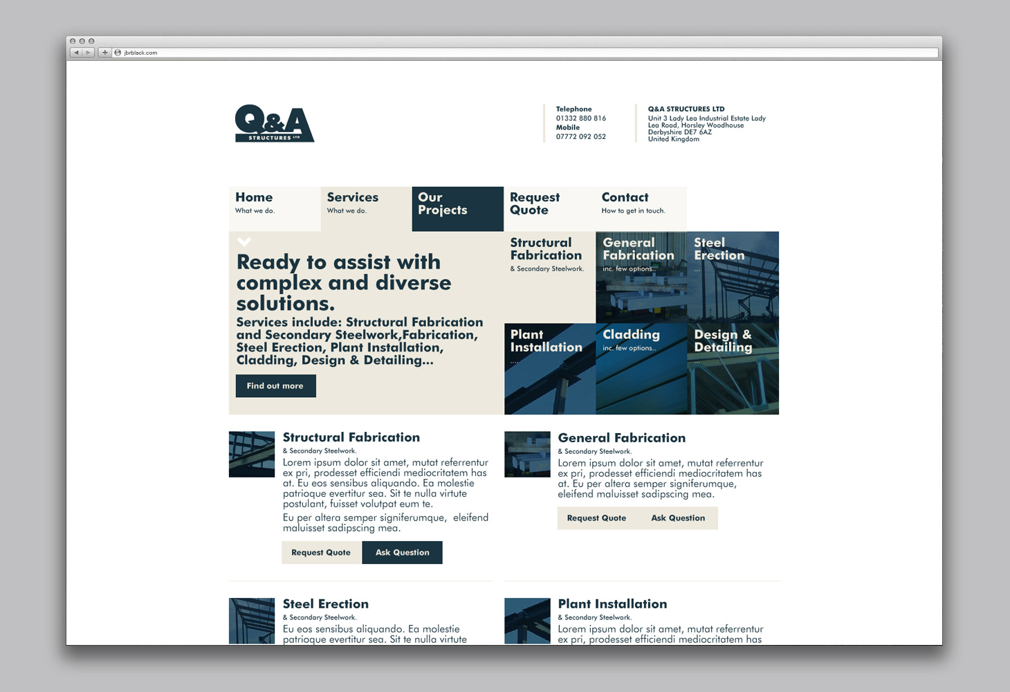 Q&A - Website - Services