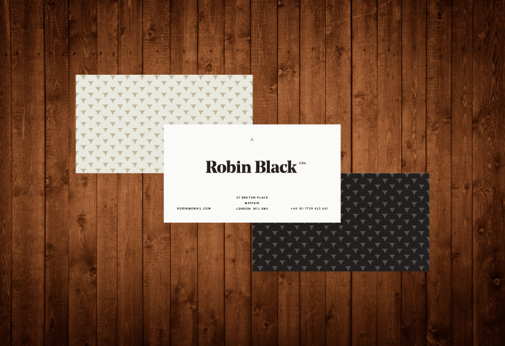 Robin Black - Identity - Business Cards