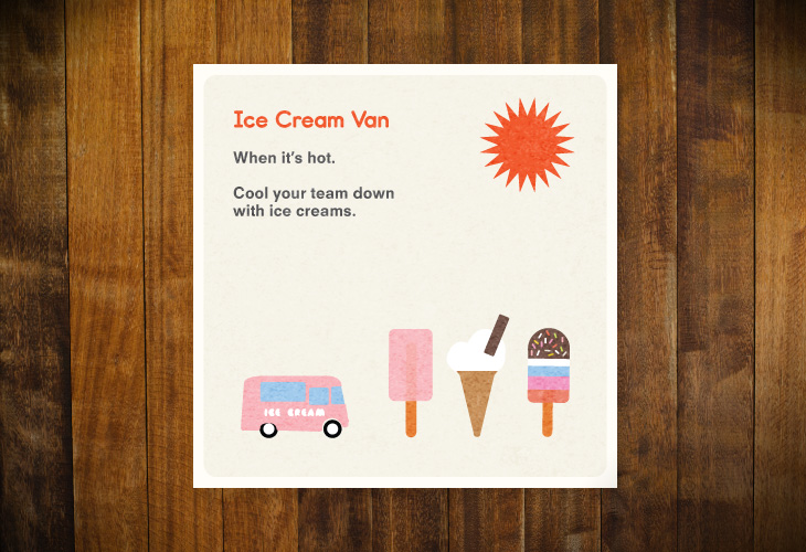 The Body Shop - The Tiny Book of Thank You's - Ice Cream van