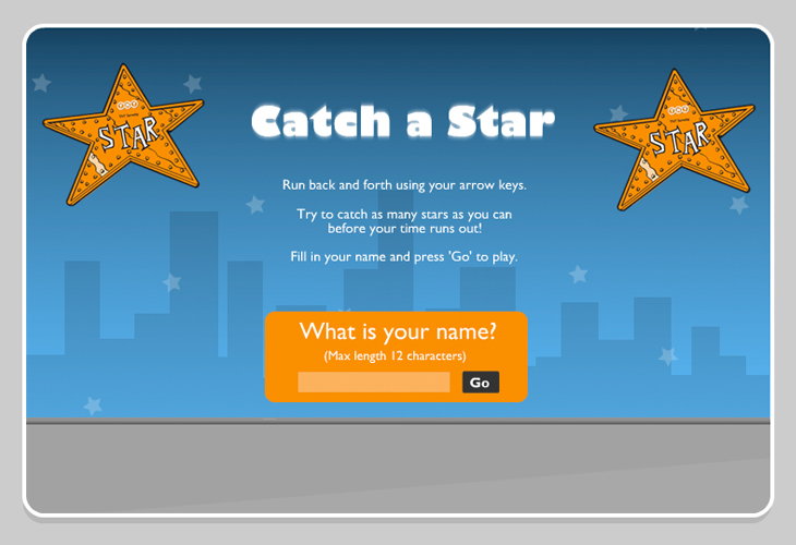 TNT - Catch a Star Flash Game - Splash