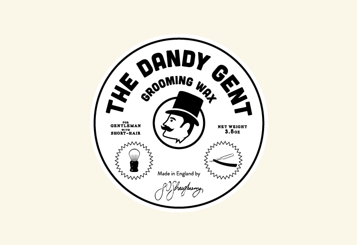 The Dandy Gent - Identity - Circle Label - White