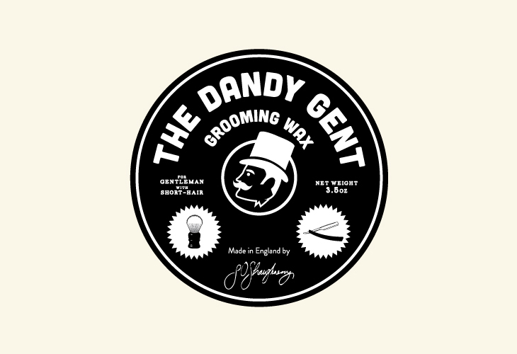 The Dandy Gent - Identity - Circle Label - Black