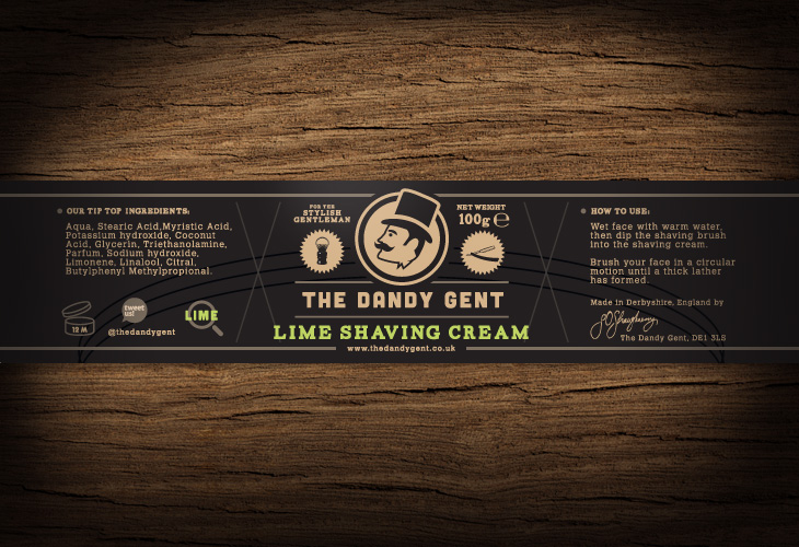 The Dandy Gent - All Products Review - Packaging - Lime Shaving Cream