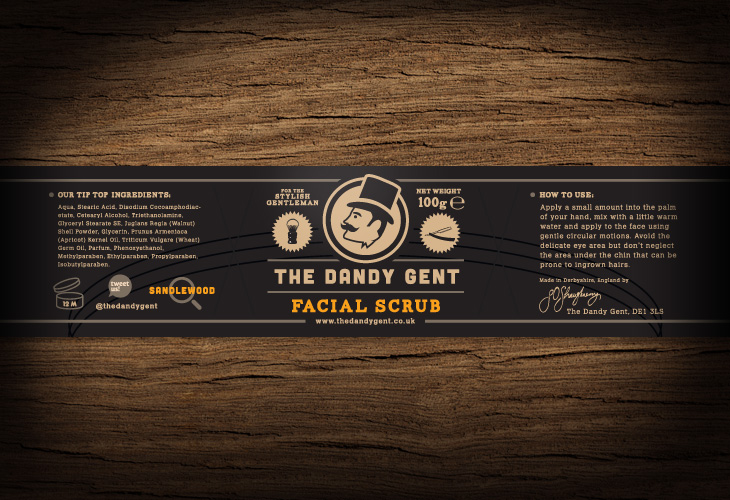 The Dandy Gent - All Products Review - Packaging - Apricot Facial Scrub