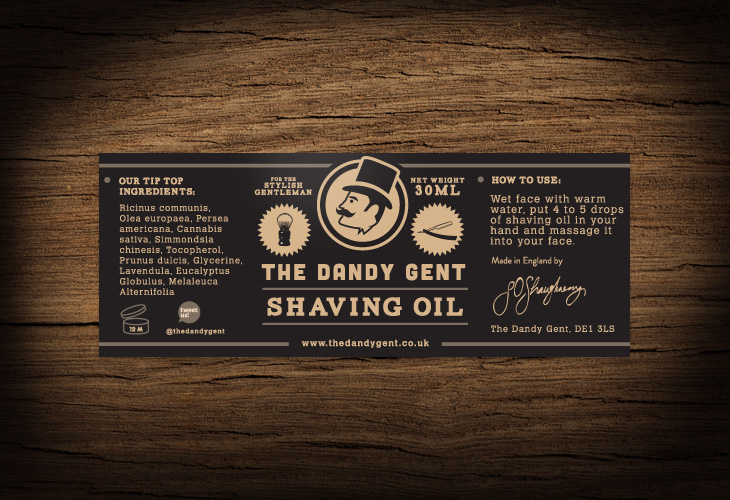 The Dandy Gent - All Products Review - Packaging - Shaving Oil