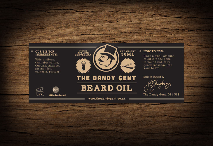 The Dandy Gent - All Products Review - Packaging - Beard Oil