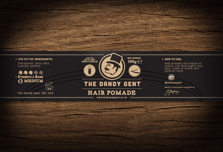 The Dandy Gent - All Products Review - Packaging - Hair Pomade