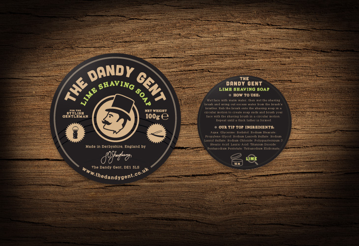 The Dandy Gent - All Products Review - Packaging - Lime Shaving Soap