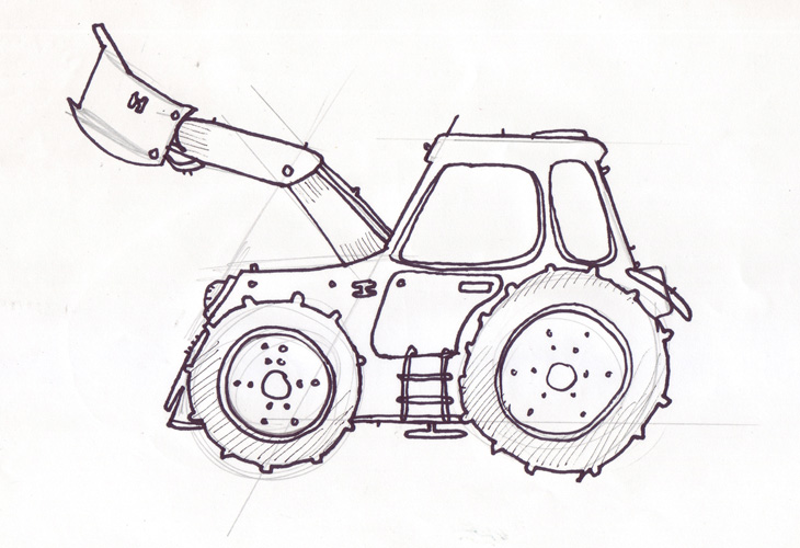 Tractor - Illustration