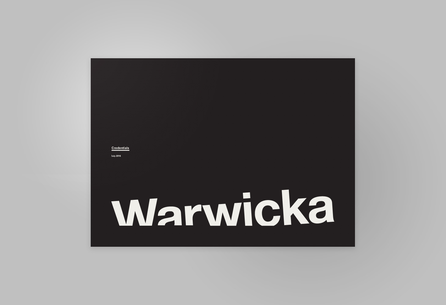 Warwicka - Credentials 2016 - Cover