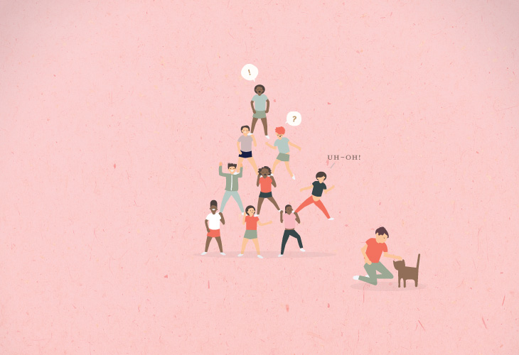 Ways of Working - Book - Illustration - Human triangle