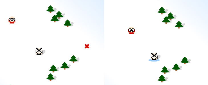 Snowfight! - Game - Game play