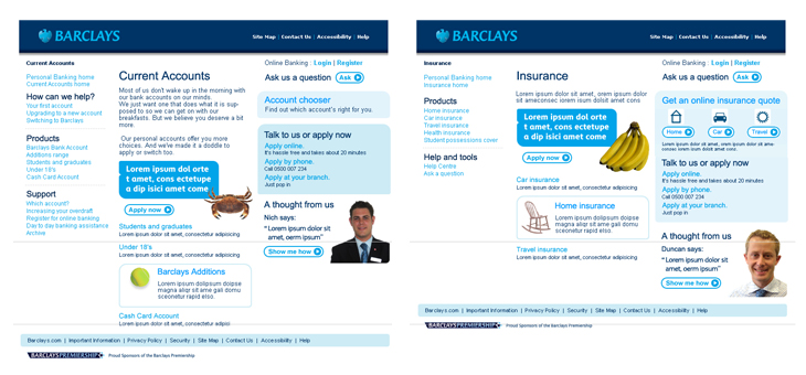Barclays - Website - Current Accounts and Insurance